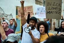 Displeased Black Couple Shouti...