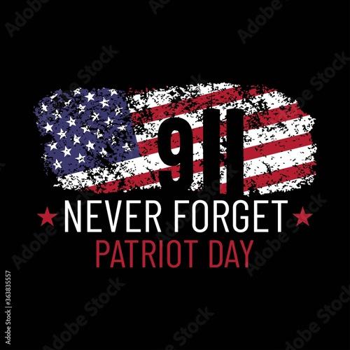 Patriot day illustration Canvas Print