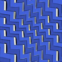 Comic Book Blue Zigzag Lines P...