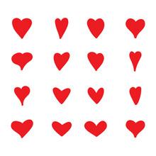 Red Heart Vector Shape. Love I...