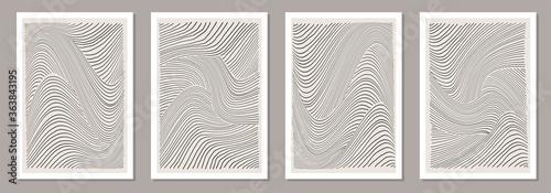 Fototapeta Trendy set of abstract creative minimalist artistic hand drawn line art composition obraz