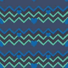 Vector Blue Green Chevrons Hea...