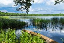 Albertinsky Lake. An Old Boat ...