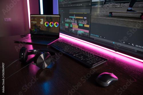 Vászonkép Video production