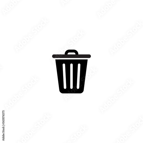 Fototapety, obrazy: Recycle Bin Icon Vector in Trendy Style. Trash Can Symbol Illustration