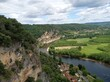 View of the Dordogne valley, nature Périgord Noir France Europe
