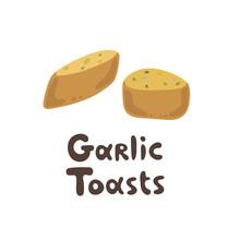 Garlic Toasts Vector Clipart S...