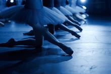 Low Section Of Women Dancing On Floor