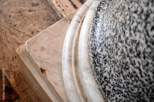 Obraz na płótnie Close Up Of Foot Of A Column