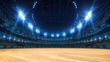 Sport Stadium With Grandstands...