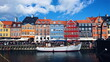 canvas print picture - Nyhavn, Colorful Buildings