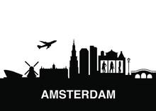 Amsterdam Netherlands Skyline ...