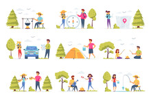 Camping Scenes Bundle With Peo...