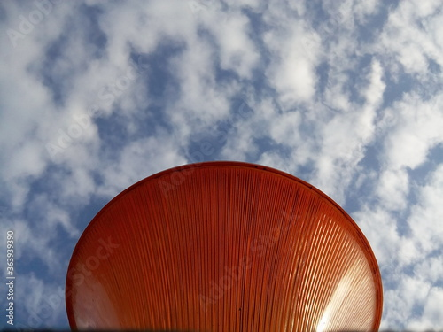 Low Angle View Of Gate Lamp Against Sky Wallpaper Mural