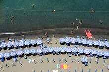 Aerial View Of Parasols And Lo...