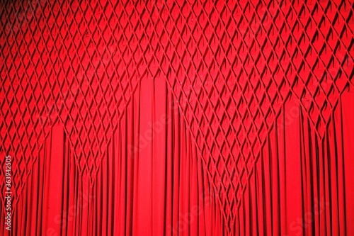 Full Frame Shot Of Red Pattern Canvas Print