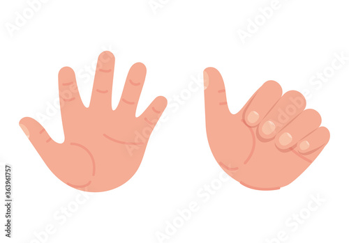like and open hand design of People arm finger person learn communication health Canvas-taulu