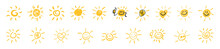 Vector Set Of Suns. Sun Symbol...