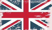 British Vector Flag In Grunge ...