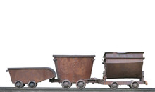 Mining Carts Isolated On White