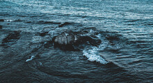 Sea Hitting The Rocks