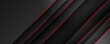 Abstract black grey metallic overlap red light hexagon mesh design modern luxury futuristic technology background vector illustration.
