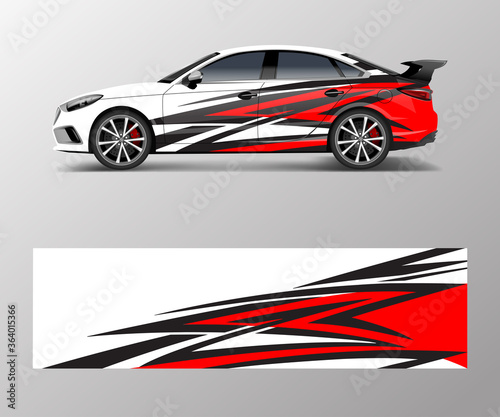 Photo abstract stripe for racing car wrap, sticker, and decal design vector