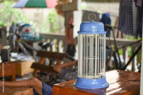 Fotografie, Tablou electric mosquito trap use home. Mosquito control concept.
