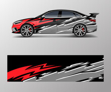 Abstract Racing Graphic Vector For Sport Car Wrap Design