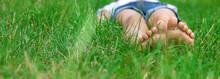 Children's Feet On The Green G...