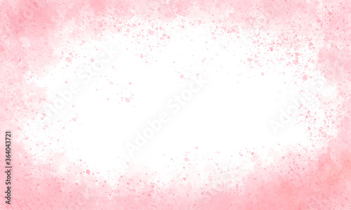 Fotografie, Tablou white light grunge background with pink paint on the sides, pink border of paints, hollow in the center