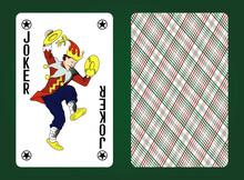 Joker Playing Card. Russiandesign. Vector Illustration.