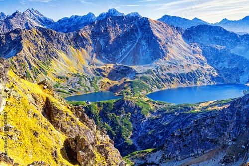 Fototapeta Valley of five ponds in the Tatra Mountains,Zakopane,Poland obraz