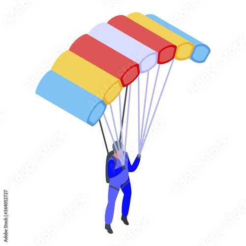 Sport parachuting icon Wallpaper Mural