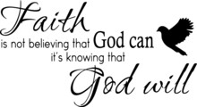 Faith Is Not Believing That Go...