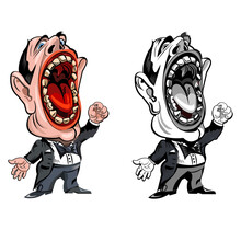 Cartoon Operatic Singer