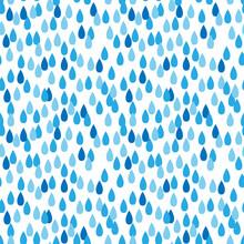 Raindrop Seamless Pattern. Fla...