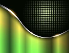 Business Background Green Black Metallic, Elegant Vector Illustration.
