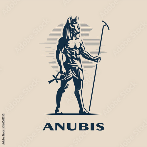 Fototapeta Egyptian god Anubis.
