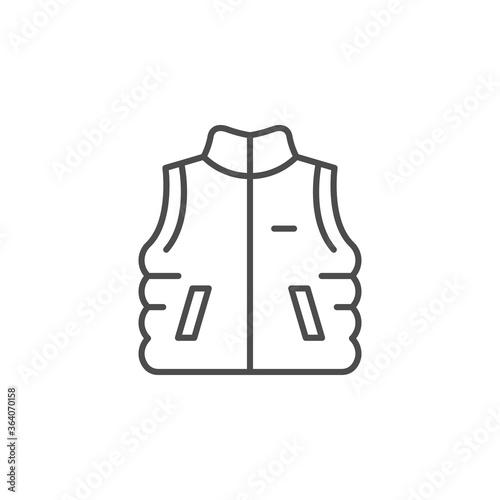 Slika na platnu Outdoor waistcoat line outline icon