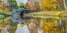 Autumn At Mabry Mill On Blue R...
