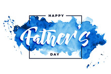 Happy Fathers Day Watercolor Card Background Design