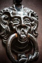 Antique Metal Door Knocker Wit...