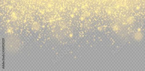 Obraz Yellow dust sparks. - fototapety do salonu