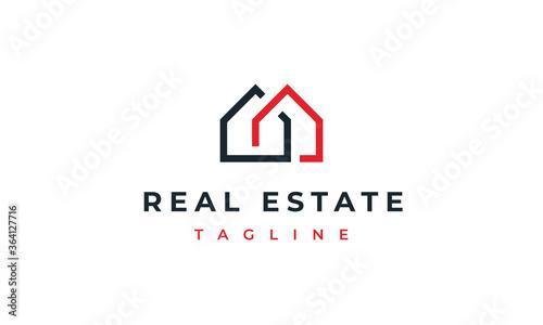 Canvas Print real estate logo concept architecture building logo design house logo home const