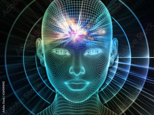 Fototapeta Glow of Brain Frequencies obraz