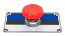 Push Button With Estonian Flag...