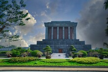 Ho Chi Minh Mausoleum In City Of Hanoi In Vietnam