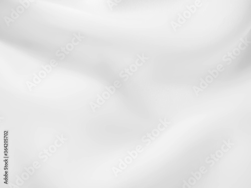 Fototapeta Abstract white fabric texture background. Cloth soft wave. Creases of satin, silk, and cotton. obraz