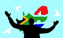 Nelson Mandela Statue Day Flag Card July